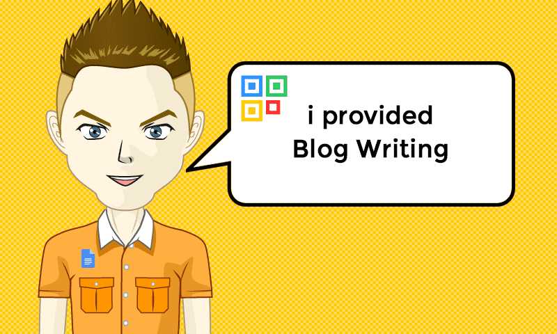 I provided Blog Writing Services - Image - iQRco.de