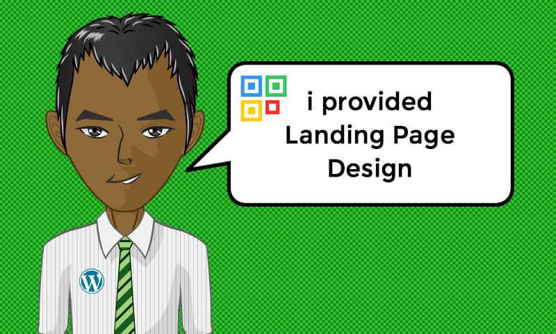 I provided Landing Page Design Setup Services - Image - iQRco.de