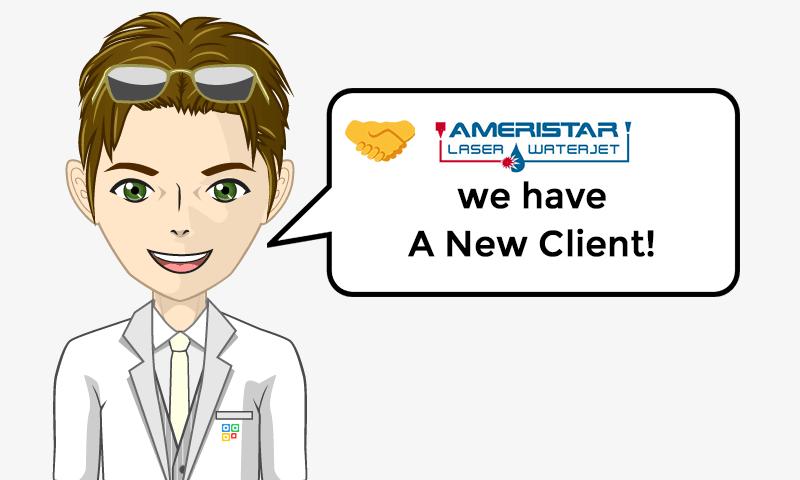 New Client Services - Ameristar Laser & Waterjet - Image - iQRco.de