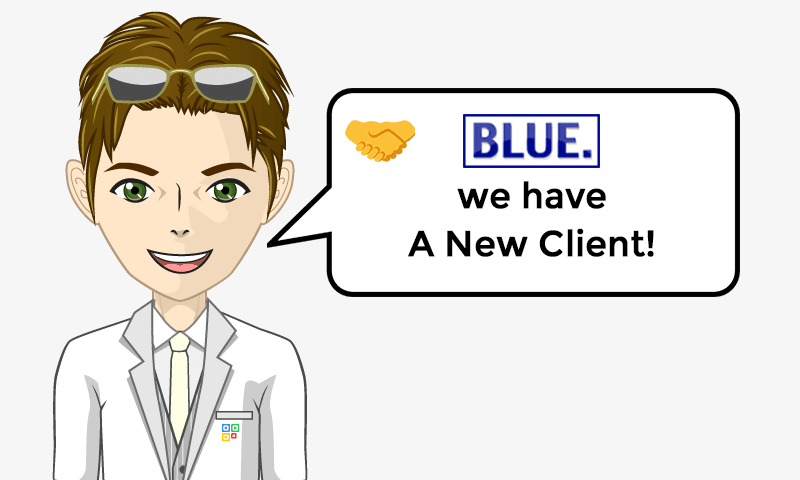 New Client Services - Blue Painting - Image - iQRco.de